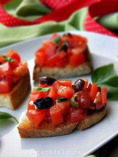 BRUSCHETTE-04511 Birthday Eve, Bruschetta, Fruit Salad, Cheesecake, Food And Drink, Ethnic Recipes, Desserts, Party, Dress