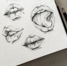 10 Hyper Realistic Drawings - open mouth your mouth sketch girl sketch illustra. - 10 Hyper Realistic Drawings – open mouth your mouth sketch girl sketch illustration sketch inspiration – Pencil Art Drawings, Art Drawings Sketches, Easy Drawings, Drawings Of Lips, Pencil Sketching, Portrait Sketches, Drawing Portraits, Drawings Of Mouths, Sketches Of Hands