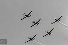 RNZAF Air Tattoo 2017 04 - Seen in this image is The Black Falcons: the aerobatic team of the Royal New Zealand Air Force (RNZAF) - taken at the 80th Anniversary Air Tattoo held at the Ohakea Air Force Base, NZ…