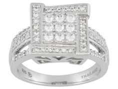 Bella Luce (R) 1.05ctw Rhodium Plated Sterling Silver Ring