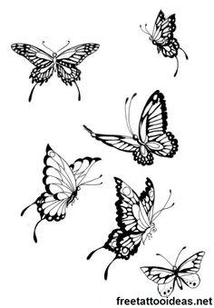 #butterfly #tattoo - http://www.freetattooideas.net/butterfly-tattoos/