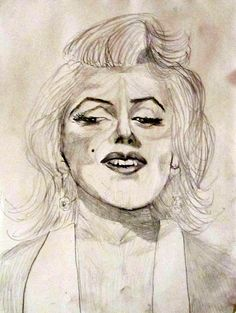 Marilyn Monroe Drawing  - Marilyn Monroe Fine Art Print