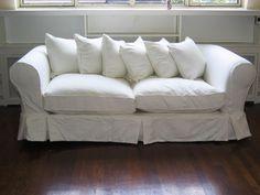 White Loveseat Slipcover