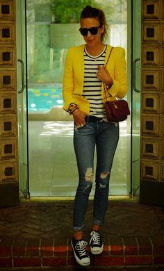 Yellow, Stripes, & Jeans