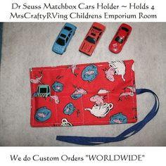 Dr Seuss MatchBox Car Roll Party Favor by MrsCraftyRVing on Etsy, $4.00 Dr. Seuss, Car Birthday, Cars Birthday Parties, Matchbox Cars, Printed Ribbon, Party Ideas, Gift Ideas, Printing On Fabric, Party Favors