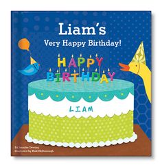 My Very Happy Birthday Book for boys.  Adorable animals prepare a special birthday party and cake for your little boy in this personalized book with durable board pages.  www.iseeme.com