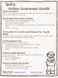 Speechie Freebies: Autism Handout. Pinned by SOS Inc. Resources. Follow all our boards at pinterest.com/sostherapy/ for therapy resources.