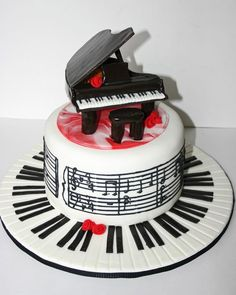 This has to be my Favorite piano cake! <3