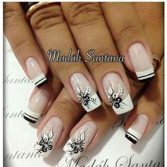 In order to make to make your nails summer ready, you need to push your creativity. The presence of nail art decals, dotting tools, acrylic nails, stencils and different kinds of paints make it very easy for you to achieve the desired results. French Nail Designs, White Nail Designs, Nail Designs Spring, Nail Art Designs, Nails Design, Fabulous Nails, Gorgeous Nails, Pretty Nails, White Nail Art