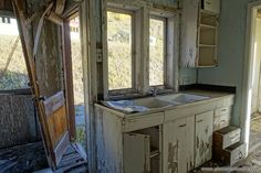 No one's in the kitchen... not even Dinah.  More here: http://www.placesthatwere.com/2016/06/gilman-colorado-toxic-ghost-town.html #abandonedplaces #Colorado #Gilman #abandoned #GilmanColorado #ghosttowns #abandonedbuildings #urbanexploration