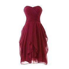 Chiffon cheap sweetheart simple bridesmaid dress,short bridesmaid dress under 100,fs158