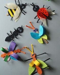 Colorful Bug Crafts - 20 Plus Kids Crafts - A Crafty Life Insect Crafts, Bug Crafts, Preschool Crafts, Easter Crafts, Kids Crafts, Summer Crafts For Toddlers, Crafts For Teens To Make, Toddler Crafts, Art For Kids