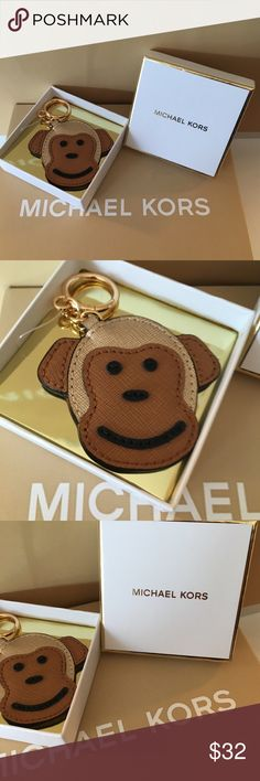 MICHAEL KORS NEW MONKEY KEYCHAIN 100% AUTHENTIC MICHAEL KORS NEW WITH TAGS NEVER USED MONKEY KEYCHAIN.  SO ADORABLE AND PERFECT TO ADD FUN AND A SMILE TO YOU DAY.  COMES WITH MICHAEL KORS GIFT BOX 100% AUTHENTIC Michael Kors Accessories Key & Card Holders