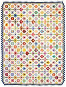 Beadlust: Grandma's Flower Garden - 3/4 Inch Hexie Quilt - Time Study