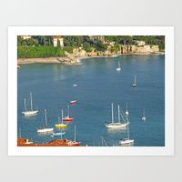 Boats in Villefranche by Carolyn Jones | Society6