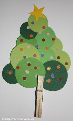Baum mit kindern basteln