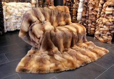 Our stone marten fur blanket provides the ideal lightweight warmth, and it will become your new favorite blanket! The stone marten fur blanket is d. Fur Pillow, Fur Blanket, Fur Throw, Fur Coat, Stone, Lingerie, Ebay, Rock, Lingerie Set