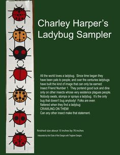 A fun wall hanging quilt for all you Ladybug lovers
