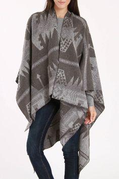 RD Style  Batavia Aztec Pattern Open Coat