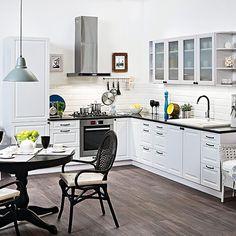 Szafka kuchenna dolna na piekarnik Luiza DP-60 biały matowy - Szafki modułowe - Meble kuchenne - Meble - Urządzanie