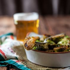 Sriracha Honey Beer Brussels Sprouts are so good, they could replace dessert. Ready in just 10 minutes.