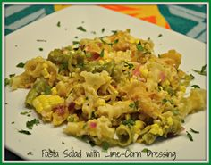 Pasta Salad with Lime-Corn Dressing