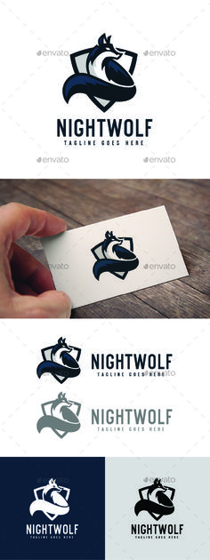 Night Wolf Logo Template by Jue_ArtDesign LOGO TEMPLATE :Logos are vector based built in Illustrator software. They are fully editable and scalable without losing resoluti
