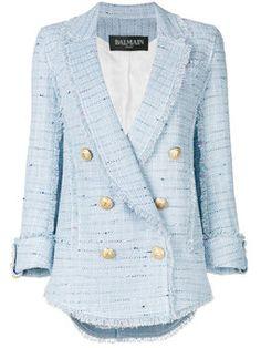 двубортный твидовый пиджак Твидовый Пиджак, Пиджак, Синие Блейзеры,  Пуховики, Стиль, Шикарная 4ce0aac5edc