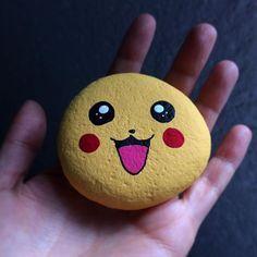 Pikachu #pikachu #pokemon #paintedrock #paintedstones #fanart #cute