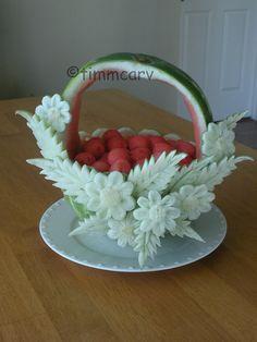 Watermelon Daisy Basket