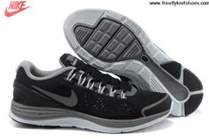 sports shoes 6e5fe f5bd3 2013 Mens Nike LunarGlide 4 Black Reflective Silver Dark Grey Wolf Grey  Shoes Shoes Shop Shops