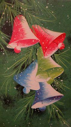 #919 50s Mid Century Bells-Vintage Christmas Card-Greeting | eBay