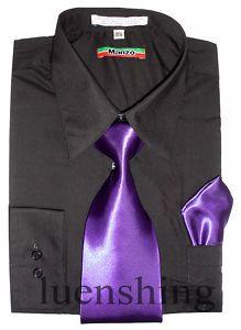 Groomsmen...black shirt purple tie?