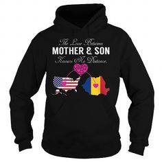 Cool The Love Between Mother and Son - United States Romania T shirt