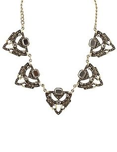 Vintage-Inspired Rhinestone Statement Necklace #CharlotteLook #CharlotteRusse #jewelry