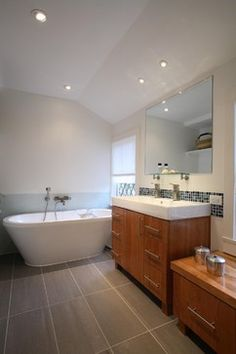 Mid Century Modern Bathroom Vanity Design Ideas, Pictures, Remodel, and Decor - page 6