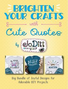 Collection of 25 Joyful SVG Cut File Designs for Adorable DIY Projects. With these files you can...DIY your OWN shirts, mugs, signs and more...for yourself, and your home, AND for unique & adorable handmade gifts for your friends and family! Christian Crafts, Bible Verse Wall Art, Thankful And Blessed, Choose Joy, You Are My Sunshine, Happy Fall, Cute Quotes, Hand Lettering, Diy Projects
