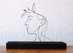 """Persephone"" wire sculpture"