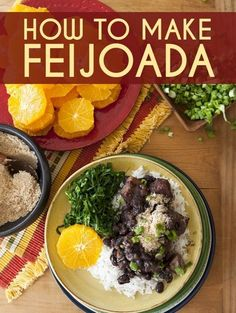"""""""This is a dish of bold temptation and prompt surrender for carnivores"""" as told by chef Leticia Moreinos Schwartz! Leticia hails from Rio de Janeiro with an expertise in traditional Brazilian cuisine. Feijoada Recipe, Brazilian Dishes, Brazilian Recipes, I Love Food, Good Food, Brazil Food, Brazil Brazil, Brazillian Food, Cooking Recipes"""