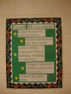 Music Teacher Blog...pbis classroom rules picture