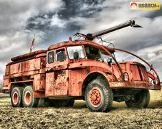 Tatra 111 Gym Quote, Old Tractors, Fire Apparatus, New Trucks, Czech Republic, Motor Car, Buses, Firefighter, Cars And Motorcycles