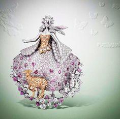 """Peau D'Âne clip Fée Des Lilacs from Van Cleef &Arpels high jewellery collection """"Peau d'Âne"""""""