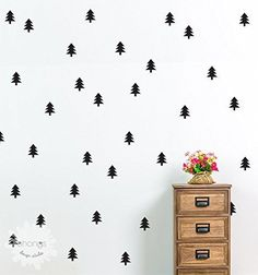 Pine Tree Wall Decal / Christmas Tree Sticker / Holiday decoration / Kids wall…