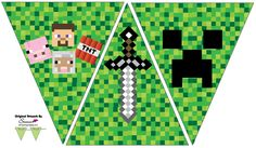 A to Z for Moms Like Me: Minecraft Birthday Party - josephine Minecraft Png, Minecraft Banners, Minecraft Printable, Mine Craft Party, Minecraft Birthday Decorations, Minecraft Birthday Party, 9th Birthday Parties, Construction Birthday Parties, Gaming
