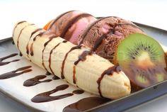 IJs met banaan en Kiwi