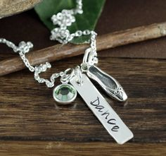 Dancer Necklace, Ballet Necklace, Dance Recital Gift, Dance Jewelry, Gift for Dancer, Ballerina Necklace, Ballet Jewelry, Gift for Her by AnnieRehJewelry on Etsy Dance Recital, Hand Stamped Jewelry, Sterling Silver Chains, Ballerina, Gifts For Her, Dancer, Ballet, Etsy, Dance Ballet