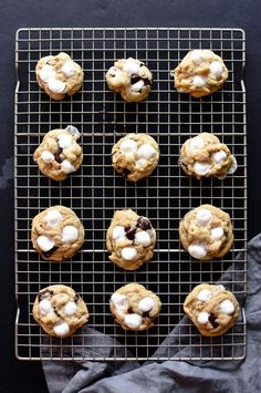 Learn how to make gooey, crunchy s'mores cookies. They are reminiscent of the campfire favorite but with half the mess!