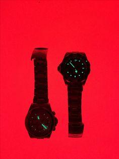Watches on red background #invicta #prodiver #speedway #daytona