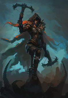 ArtStation - Demon Hunter, Raph Lomotan