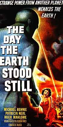 """'The Day the Earth Stood Still' (the 1951 original)  Based on the story 'Farwell to the Master' by Harry Bates.  I still practice saying """"Klaatu Barada Nikto"""".  This was the first science fiction film I remember watching."""